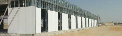 مبنى قاعة الرياضة الفولاذية الخفيفة
