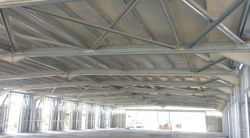 مبنى قاعة الرياضة الفولاذية الخفيفة-1